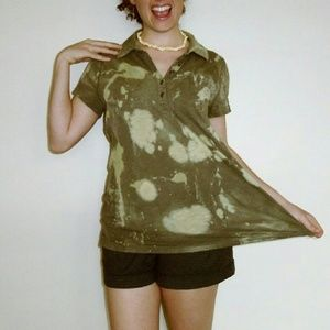 Sonoma Bleach Spattered loose top